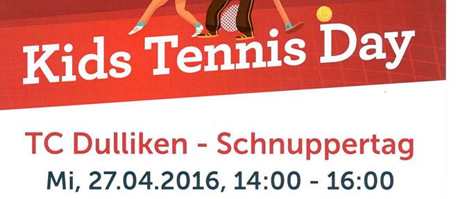 Flyer Kids Tennis Day